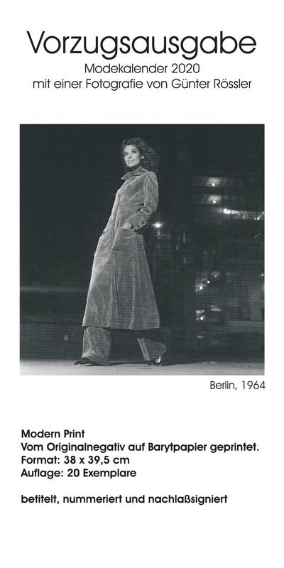 Modefoto-Kalender Günter Rössler 2020 - Vorzugsausgabe