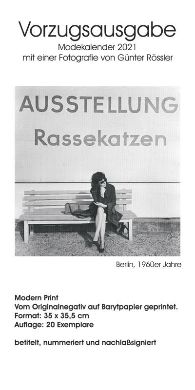 Modefoto-Kalender Günter Rössler 2021 - Vorzugsausgabe